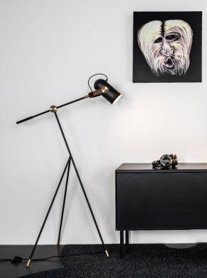 Piantana Carronade H 111 cm, nera